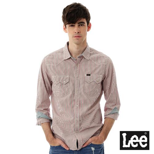 Lee 條紋長袖襯衫