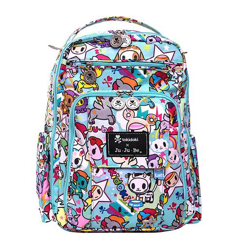 【美國Ju-Ju-Be媽媽包】tokidoki聯名款-BeRightBack後背包:Unikiki 2.0 彩虹小馬