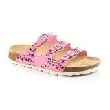 Papillio 454831。FLORIDA佛羅里達 三條復古拖鞋(粉紅小碎花)