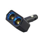 【日本槌屋YAC】可90度調整LED冷光雙孔插座PZ-735 (汽車|擴充器|充電器)
