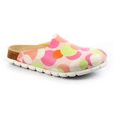 勃肯ALPRO 577263。C160包頭拖鞋(粉紅圓點)