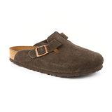 勃肯BIRKENSTOCK 660461。BOSTON波斯頓 包頭拖鞋(反毛皮/咖啡色)