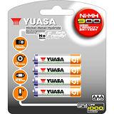 日本湯淺 YUASA 鎳氫電池 4號 AAA900*4