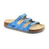 Papillio 754621。FLORIDA佛羅里達 三條復古拖鞋(天藍細紋)