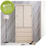 YUDA-美化 3*7尺 A+木心板 推門/拉門+三抽屜 衣櫥/衣櫃 新竹以北免運費ˋ