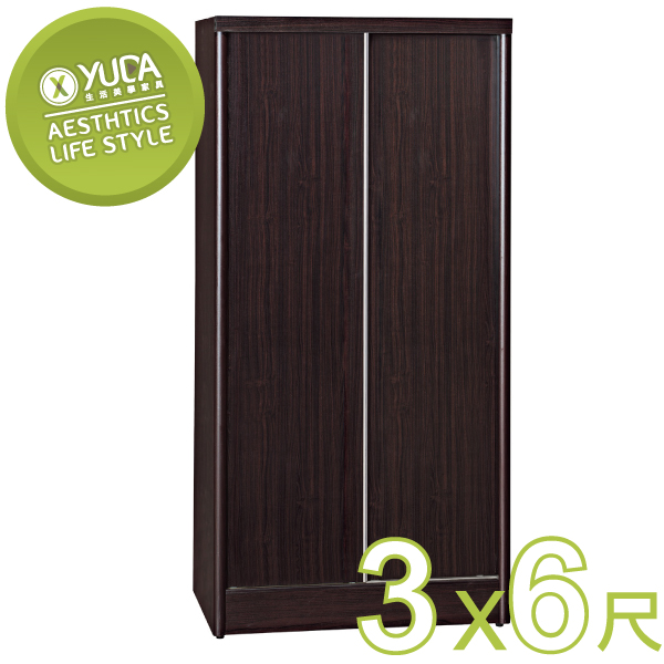 YUDA-美化 3*6尺 A+木心板 推門/拉門 衣櫥/衣櫃 新竹以北免運費