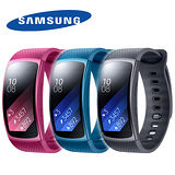 Samsung Gear Fit2 (R360) 運動智慧型手環-送speedo手拿+360度旋轉自拍棒+野餐用點心湯盤2入組