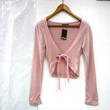日本CIELO 現貨-棉質綁結罩衫小外套(共兩色/F)