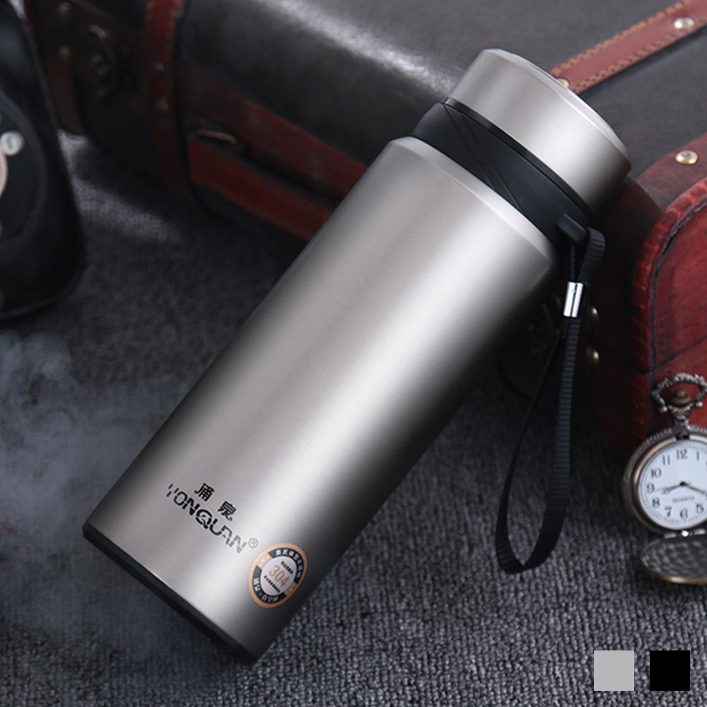 PUSH! 戶外休閒用品不銹鋼雙層真空冷泡茶保溫水壺保溫瓶750ml保溫杯E82-1不鏽鋼色