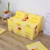 【快樂小熊】坐高30床長200公分-四折式沙發床/沙發椅(黃色)