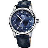 Oris Classic 經典都會機械腕錶-藍/42mm 0173375944035-0752085