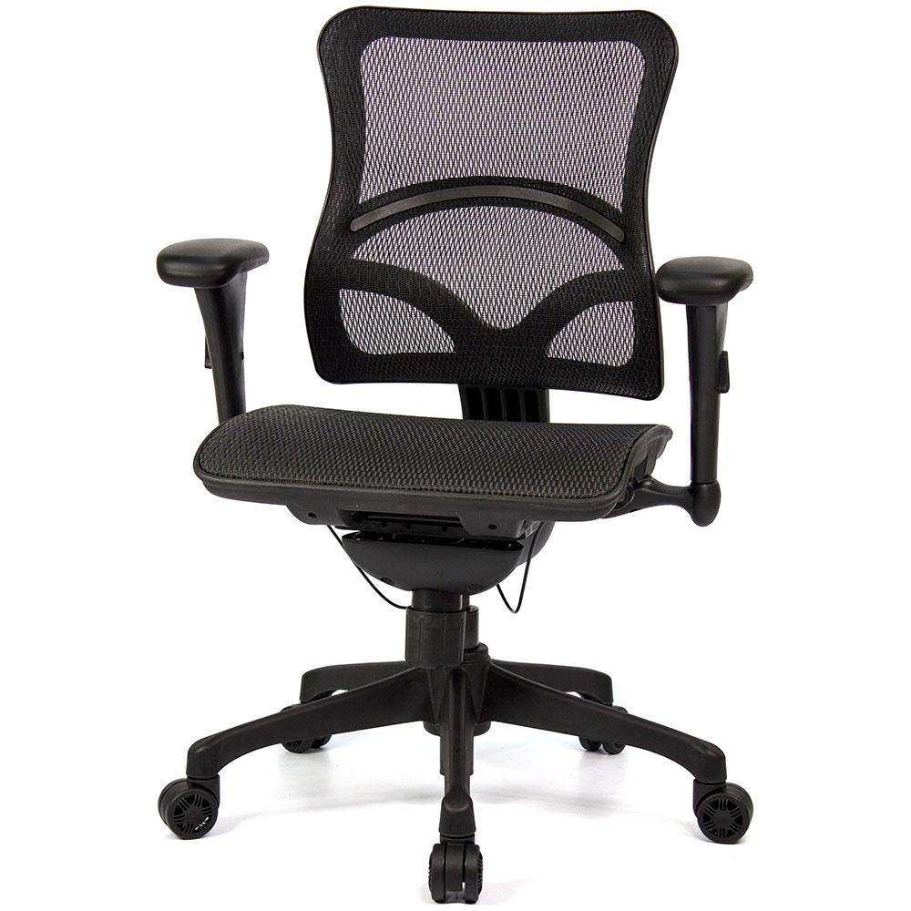 aaronation 愛倫國度 -JQ-D8-黑網-尼龍腳-線控式辦公椅-二色可選