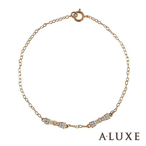 A-LUXE 亞立詩 The Gift 系列 戀愛18K玫瑰金鑽石手鍊