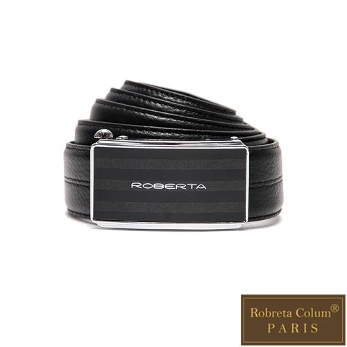 Roberta Colum - 紳士們復刻碳纖自動金屬滑扣牛皮皮帶