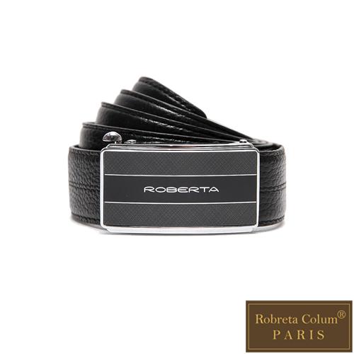 Roberta Colum - 紳士們魅力碳纖自動金屬滑扣牛皮皮帶