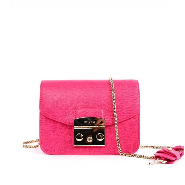 【FURLA】小牛皮cross body (MINI)BABY款(糖果粉)