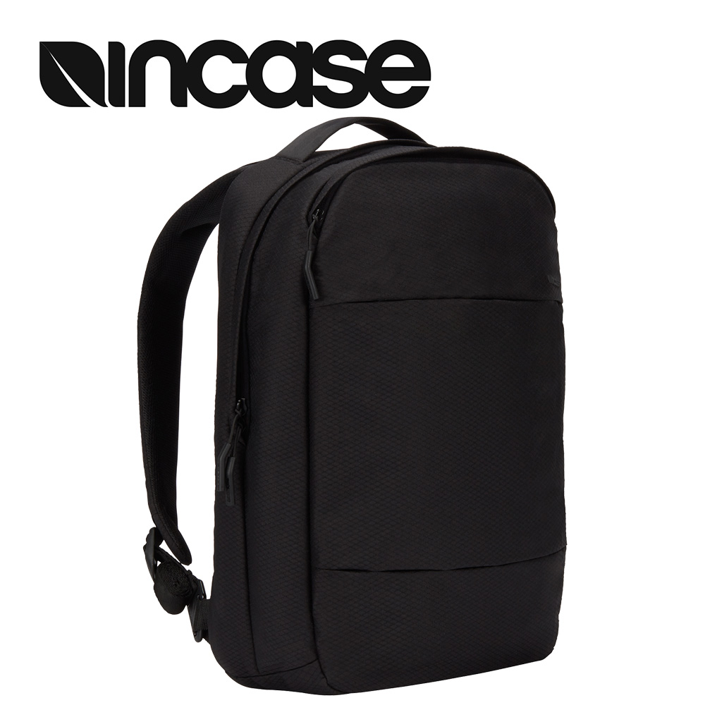 【INCASE】City Compact Backpack with Diamond Ripstop 15吋 城市輕巧筆電後背包 (鑽石格紋黑)