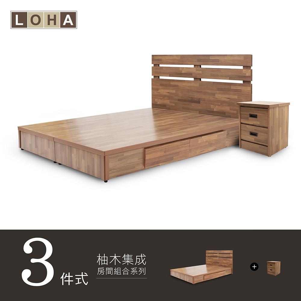 LOHA Original原創工業-5尺房間組合-三件式/抽底