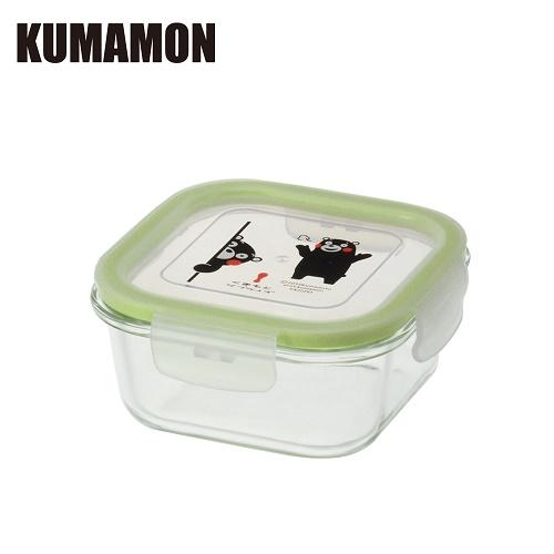 【KUMAMON熊本熊】耐熱玻璃保鮮盒520ML 方形