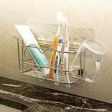 Peachy life 新一代霧面無痕貼系列-304不鏽鋼大容量愛心牙刷架