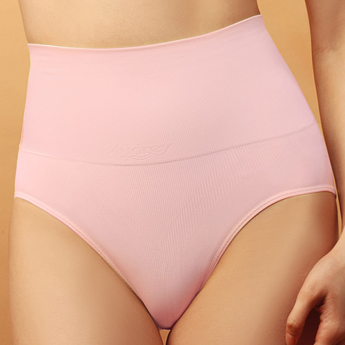 【Audrey】香氛柔情 高腰產後修飾褲(柔情粉)