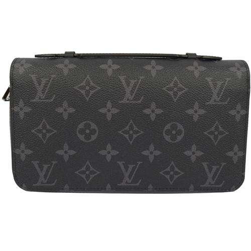 Louis Vuitton LV M61698 Zippy XL 黑經典花紋護照手機長夾 現貨