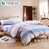 梵蒂尼Famttini-海瑟風情 雙人四件式頂級純正天絲兩用被床包組