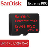 SanDisk Extreme Pro micro SDXC 128GB /U3/UHS-II /附USB3.0讀卡機 - 6114.MS512.322