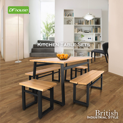 ~DFhouse~英式工業風~餐桌~1 雙人餐椅~2 單人餐椅~2