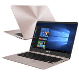 ASUS華碩 UX410UQ-0131C7200U 14吋FHD/i5-7200U/4G記憶體/256GSSD/NV940MX 2G獨顯 極致輕薄高效筆電(玫瑰金)
