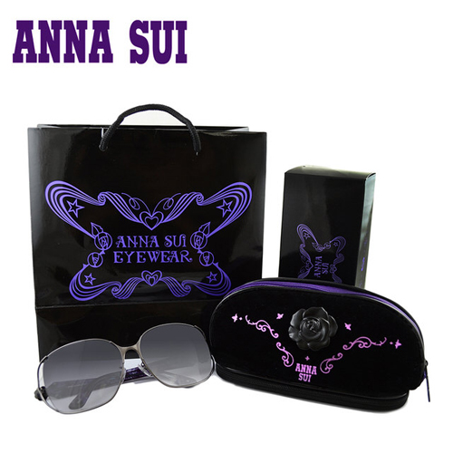 Anna Sui 日本安娜蘇花園系列太陽眼鏡禮盒組-(黑紫色) AS880-986