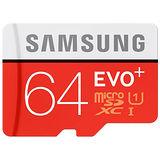 《升級版+》SAMSUNG三星64GB EVO PLUS microSDXC UHS-I 80MB/s平行輸入