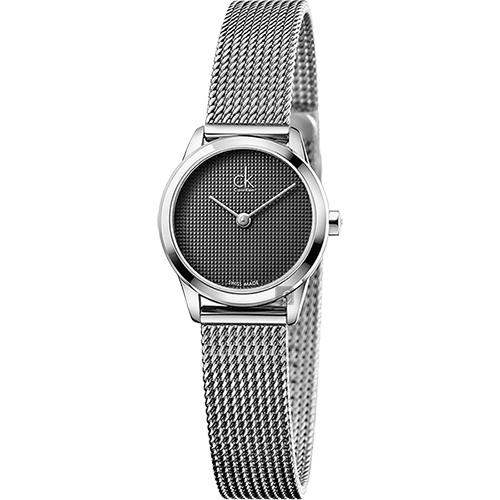 Calvin Klein CK Minimal 極簡米蘭帶女錶-灰/24mm K3M2312X