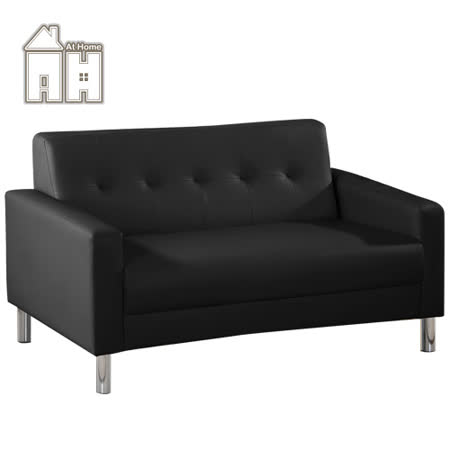 AT HOME 約翰黑色雙人沙發