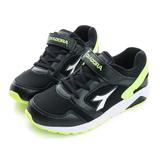 DIADORA 童鞋 慢跑鞋 黑白 - DA7AKC3960