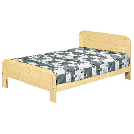 日式5尺松木實木 雙人床架
