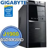 技嘉Celeron平台【黑槍英雄】Intel四核心 SSD 240G效能電腦