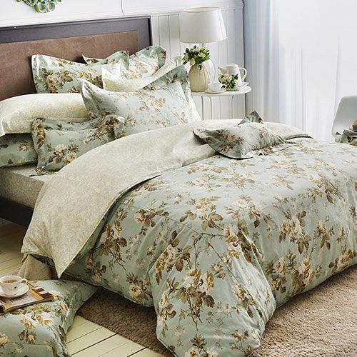 義大利La Belle 純棉枕套床包組(雙人)