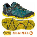 【MERRELL】越野鞋 Blaze Aero Sport 男鞋 戶外 登山 跑鞋 耐磨大底 綠 黃 男(ML37689)