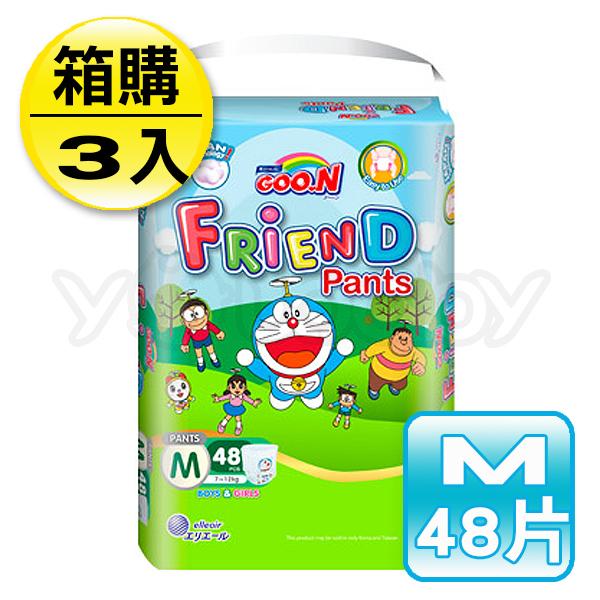 日本大王 GOO.N 褲型M-國際版多啦A夢褲(48片X3串)-箱購