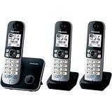 Panasonic 國際牌 KX-TG6813 DECT數位中文無線雙手機電話 (黑色/銀色)