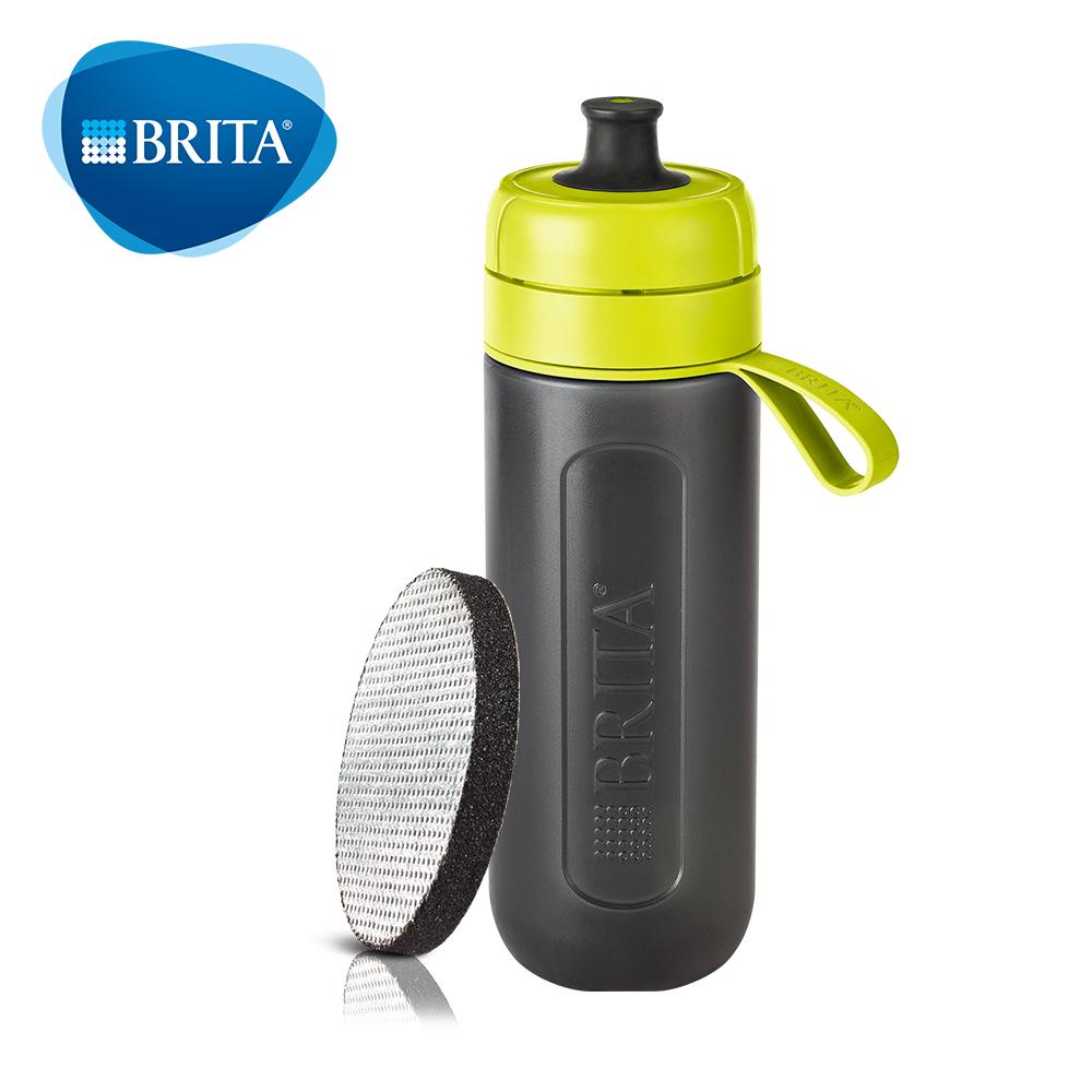 【德國BRITA】Fill&Go Active 運動濾水瓶600ml_內含1入濾片(綠色)