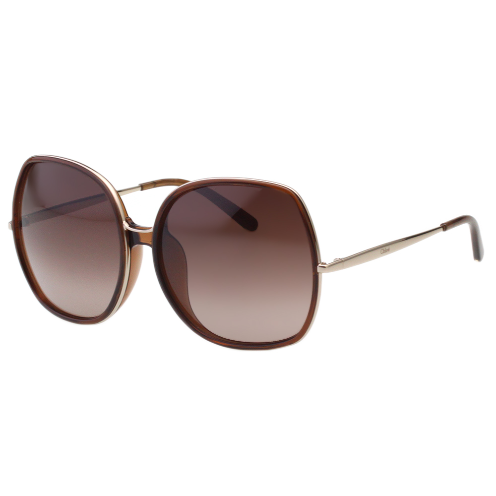 CHLOE太陽眼鏡 個性方框(透明咖啡)CE729SA-210
