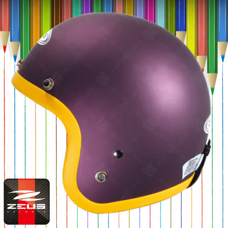 【ZEUS瑞獅 ZS-383 素色騎士帽】3/4罩安全帽│寬板雙色彩條│半罩 復古帽│時尚 偉士牌│情侶必備