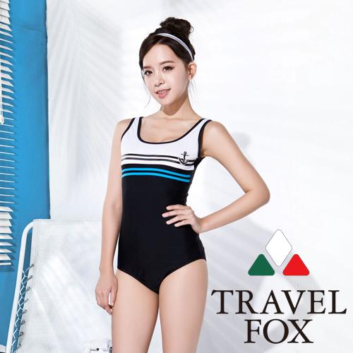 【旅狐TRAVEL FOX】大女 海軍風連身三角泳衣C16702
