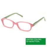 BENETTON 班尼頓 專業兒童眼鏡果凍亮彩方框系列(粉+綠/黃橘 BB018-81/83)
