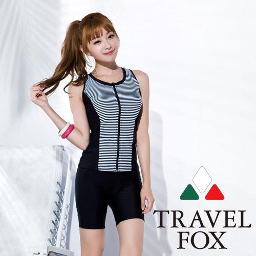 【旅狐TRAVEL FOX】大女帥氣長版二件式泳衣C16707