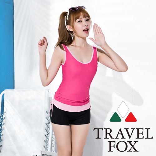 【旅狐TRAVEL FOX】大女長版三件式泳裝C16714