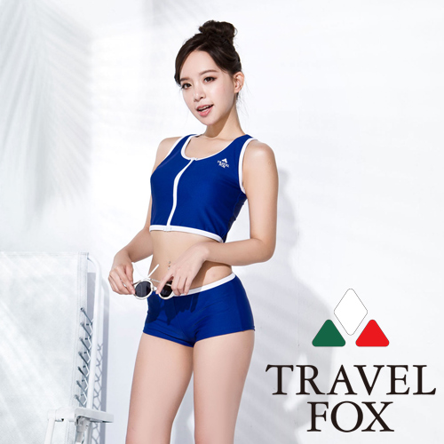 【旅狐TRAVEL FOX】大女短版兩件式泳裝C16723