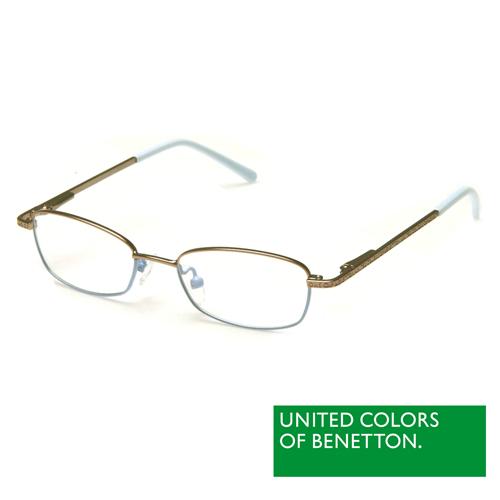 BENETTON 班尼頓 專業兒童眼鏡細框金屬質感系列(藍 BB023-81)